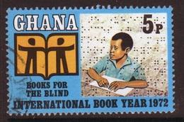 Ghana 1972  Single 5np International Book Year  Fine Used Commemorative Stamp. - Ghana (1957-...)