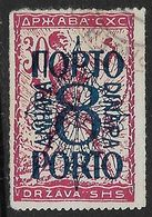 Yugoslavia Slovenia SHS 1920 Postage Due Used Roulette 8din - 1919-1929 Royaume Des Serbes, Croates & Slovènes