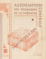 Publicité :  Calendrier 1934   : Association  Des Fromagers De La Thiérache     (années 30)   ///  Ref.  Juillet 20 - Kalender