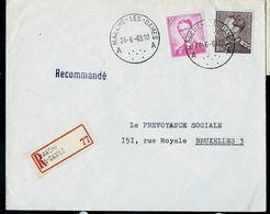 Doc. De MARCHE - LES - DAMES - A A - Du 24/06/69 En Rec. ( E ) - Postmark Collection