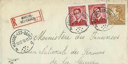 Doc. De MARCHE - LES - DAMES - A A - Du 10/12/56 En Rec. ( E ) - Marcophilie