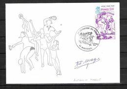 ENVELOPPE 29ème KERMESSE DU BOL D AIR 1979  / DÉDICACE D' Antonin MAGNE - Vainqueur Tour De France 1931 Et 1934 - Handtekening