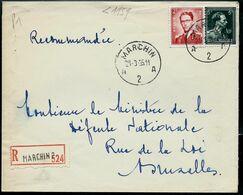 Doc. De MARCHIN - A 2 A - Du 21/03/55   En Rec. ( E ) - Postmark Collection