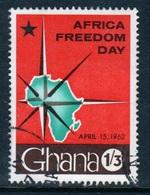 Ghana 1968  Single 1/3d  Africa Freedom Day  Fine Used Commemorative Stamp. - Ghana (1957-...)