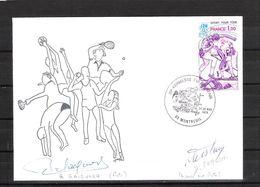 ENVELOPPE 29ème KERMESSE DU BOL D AIR 1979  / DÉDICACE De Roger GAIGNARD Et De Dominique FORLINI Cyclisme Pistards - Handtekening