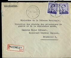Doc. De MARCINELLE - A 1 A - Du  19/07/60  En Rec. ( E ) - Postmark Collection
