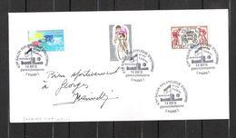 ENVELOPPE 1991  /  DÉDICACE Personnalisée De Jacques MARINELLI   Cyclisme / Vainqueur De 6 étapes Tour De France 1954 - Handtekening