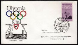 Germany Bonn 1968 / Olympic Games Mexico City / Kiel Sailing / Athletics / Pierre De Coubertin - Sommer 1968: Mexico