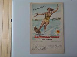 1950 Buvard Neuf Pub Asthmacrisine Femme Maillot Bain Ski Nautique Soprolac Genval - Drogerie & Apotheke