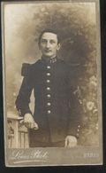 Photo CV D'un Soldat D'un 128ème Régiment Portant Des Insignes D'épaule De Sapeurs Et De Chasseurs ??? - A Identifier - 1914-1918: 1ère Guerre