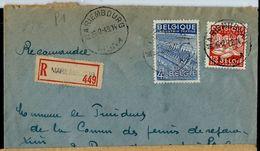 Doc. De MARIEMBOURG - A A - Du 25/02/49 (exportations) En Rec. ( E ) - Marcophilie