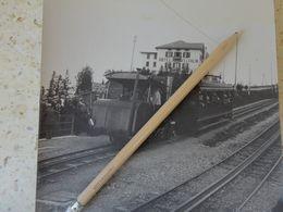 SUISSE LE RIGI STAFFEL HOTEL FELCHLIN  TRAIN LOCOMOTIVE GRANDE PHOTO 18 X 18  CM  VERS 1915 VCE20 - Luoghi