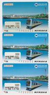 LOT De 3 Cartes 3 Valeurs Diff JAPON - TRAIN & BATEAU - SHIP & RAILWAY JAPAN Minatomirail Cards - 3430 - Eisenbahnen