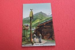 Valais Paysage Valaisan + Baita Con Pubblicità Leman's Chocolats + Costumi Trachten NV - VS Valais