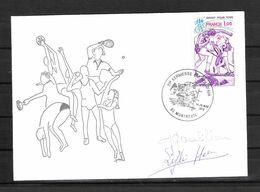 ENVELOPPE 29ème KERMESSE DU BOL D AIR 1979  / DÉDICACES De Geneviève GAMBILLON Et De Lyli HERSE  Cyclisme Français - Handtekening