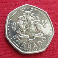 Barbados 1 One Dollar 1988 KM# 14.2  Barbades Barbade - Barbados