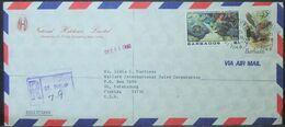 Barbados - Registered Cover To USA 1980 Fauna Bird Fish St Philip - Barbados (1966-...)
