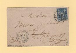 Algerie - Fort National Algerie - 1882 - Type Sage - Marcophilie (Lettres)