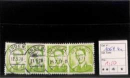 [820637]TB//O/Used-Belgique 1958 - N° 1069, 4x, Rois - Belgique