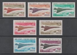 AVION  SUPERSONICO,CONCORDE  1969  **   MNH  7  VALORES  SERIE  COMPLETA   PERFECTA - 1966 Satellite D1