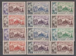 10 -ANIVERSARIO-DE-LA-LIVERACION  1954  **   MNH  12  VALORES  SERIE  COMPLETA   PERFECTA - 1954 10e Anniversaire De La Libération
