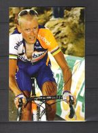 PHOTO Format CP / DÉDICACE De Michael RASMUSSEN Coureur Danois - Equipe Rabobank 2003/2007  - Recto / Verso Cyclisme - Handtekening