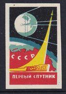 Russia Space Weltraum Espace: Matchbox Labels:  Sputnik 1 - Boites D'allumettes - Etiquettes