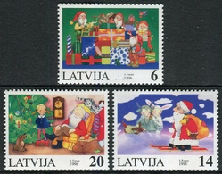 Letonia 1996 Correo 406/408 ** Navidad 1996 (3 Val.) - Lettonie