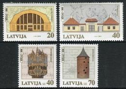 Letonia 2000 Correo 494/497 ** 8 Centenario De Riga. Monumentos Y Símbolos (4 V - Lettonie