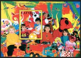 Letonia 1996 Hojas Bloque 7 ** Juegos Infantiles - Lettonie