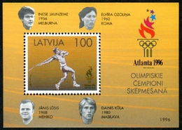 Letonia 1996 Hojas Bloque 8 ** Juegos Olímpicos En Atlanta - Lettonie
