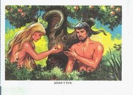 Postal 014539: La Biblia: Adan Y Eva - Cartoline