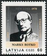Letonia 2013 Correo 848 ** Marks Rotko. Pintor (1903-1970) - Lettonie