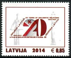 Letonia 2014 Correo 878 ** 20 Aniv. Relaciónes Diplomaticas Con Georgia - Lettonie