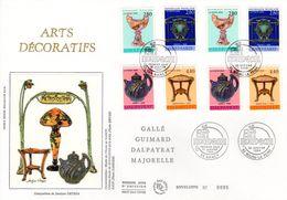 """"""" ARTS DECORATIFS """" Sur Enveloppe 1er Jour Grand Format N°tée Sur Soie 2 X N° YT 2854 à 2857 Parfait état. FDC - Sonstige"""