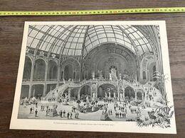 1900 PARIS GRAND PALAIS DES CHAMPS ELYSEES ESCALIER D HONNEUR DANS LE HALL LOUVET - Collezioni
