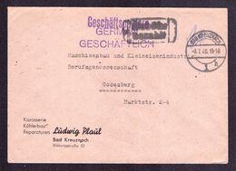 """All.Bes. Freistempel Brief BAD KREUZNACH - Godesberg - 8.7.46 - Mit Violettem """"Gebühr Bezahlt""""-Stempel - Gemeinschaftsausgaben"""