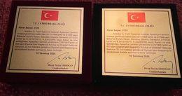 AYASOFYA-İ KEBİR CAMİİ ŞERİFİ  SILVER AND BRONZE UNC !!!!!! RRRRR. - Turkey