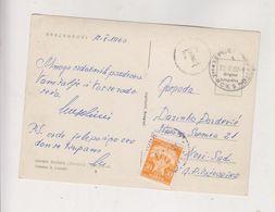 YUGOSLAVIA HERCEGNOVI 1960 Nice Postcard Postage Due - 1945-1992 République Fédérative Populaire De Yougoslavie