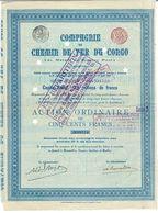 Titre Ancien - Compagnie Du Chemin De Fer Du Congo - De Matadi à Stanley Pool - Titre De 1889 - N° 08274 - - Chemin De Fer & Tramway