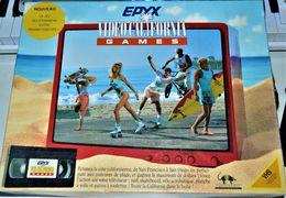 Rare Ancien Jeu Epyx Infogrames Vidéo California Games Jeu De Plateau + VHS 1988 - Oud Speelgoed