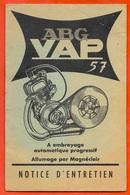 Notice D'entretien MOTEUR ABG VAP...(avec 2 Dépliants...voir Les Scans SVP) 92 COURBEVOIE - Maschinen