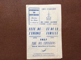 PROGRAMME CIRQUE  Comités D'Etablissement DES USINES ALSTHOM  Lecourbe-St-Ouen-Signaux PARC DES EXPOSITIONS  Paris 1957 - Programmi