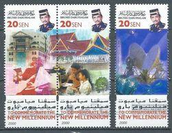 Brunéi YT°564-565-569 Nouveau Millénaire (Paire Se-tenant) Neuf ** - Brunei (1984-...)