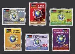 SOUTH SUDAN 2020 - FULL SET - JOINT ISSUE - COVID-19 PANDEMIC PANDEMIE CORONA CORONAVIRUS RARE MNH - Südsudan