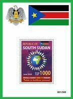 SOUTH SUDAN 2020 - SOUVENIR SHEET BLOC BF - JOINT ISSUE - COVID-19 PANDEMIC PANDEMIE CORONA CORONAVIRUS RARE MNH - Südsudan