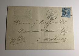 Lettre Affranchie à 20c En étoile De Paris N°5sur N°22 - 1849-1876: Période Classique