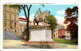 New York Albany State Capitol Grounds General Sheridan Monument - Albany