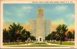 New York Albany Governor Alfred E Smith Office Building 1957 Curteich - Albany