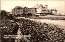California Santa Barbara Hotel Potter Southern Pacific Postcard - Santa Barbara